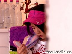 Adorable Japanese babe is bored and is about to be naughty