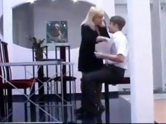 He fucks his boss in the office
