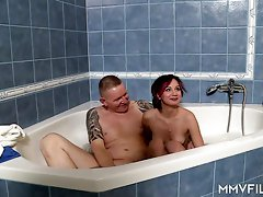 Real emo slut Blue Star gets picked up and fucked in the bathroom