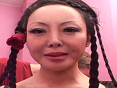 The giant boobed, Asian playmate, Ange Venus is going to get every single