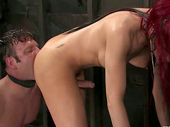 Dominant Transsexual La Cherry Spice Banging a Dude's Ass