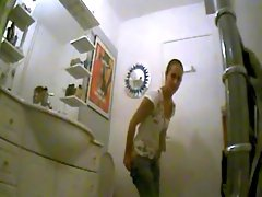 Amateur teen toilet hidden spy cam voyeur