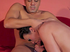 Hadjara sucks and rides a cock and gets cum on her beautiful face