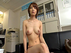 Hardcore mmf threesome action with flexible Japanese cutie