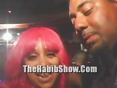 Pornstar PINKY Exposed on stage with Roxy Reynolds