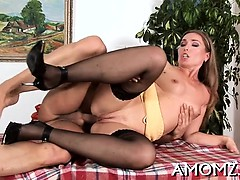 Wet mama is just ideal for all kinds of hardcore treatment