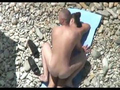 Nude Beach - Hot MMF Threesome on the Shore
