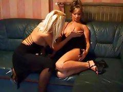 Black  Dresses with Lesbian Seduction...F70