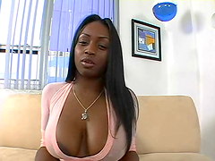 Fiery big titty ebony gets fucking nailed!