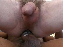 Hawt guy attempts to drink this monster cock