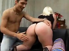 Big Tits Italian Blonde Takes It Up The Ass