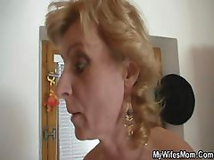 Horny man drills her GF's mom pussy