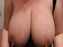 MILF Lateshay floppy saggy lactating 36 G tits