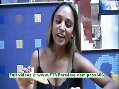 Saima awesome brunette teenage public flashing tits