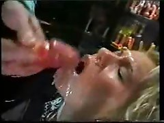 HUGE amazing facial on beautiful german blonde