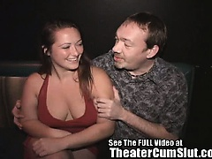 Big Tit MILF Sucking Cock in XXX Theater