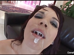 Dana gets her ass stuffed with a huge black cocks