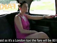 Scammed Gabrielle gets laid in taxi